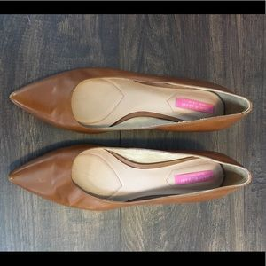 Isaac Mizrahi - Brown Leather Kitten Heel